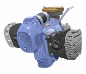 stock photo of combustion  - vector illustration of motocycle internal combustion engine - JPG