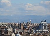 stock photo of altar  - Rome overview the Altare della Patria on a sunny day - JPG