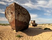 Boats In Desert Around Moynaq, Muynak Or Moynoq - Aral Sea Or Aral Lake - Uzbekistan - Asia