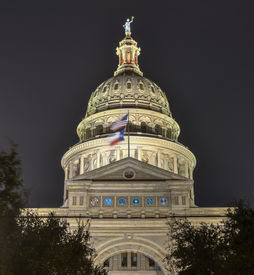 picture of granite dome  - The Texas State Capitol Building in downtown Austin - JPG