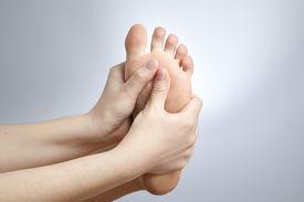 foto of pedicure  - Pain in the foot - JPG