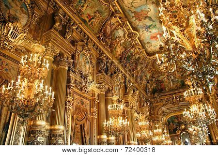 beautiful hall of Opera Garnier