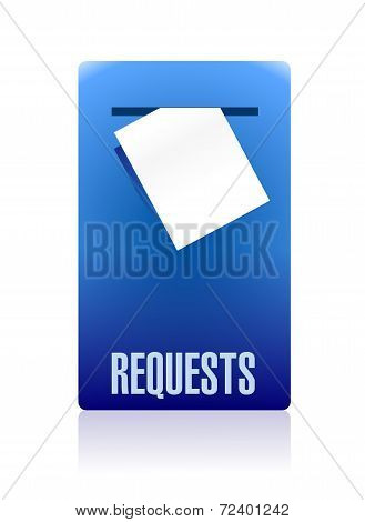 Request Box Illustration Design