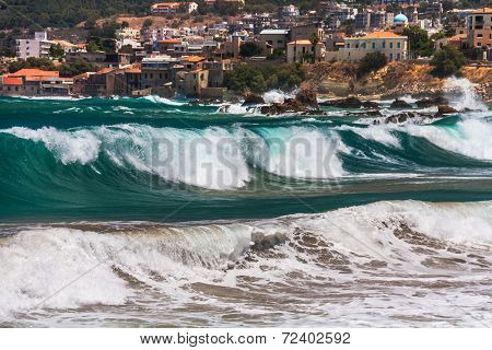 Big Wave In Chania.