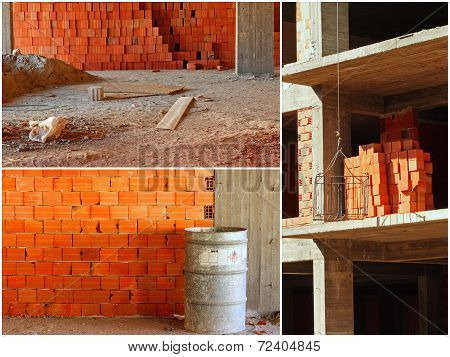 Construction Site Collage