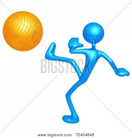 Kicking Yoga Pilates Physio Ball