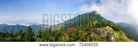 Panorama Of Amazing Summer Mountain Landscape - Slovakia