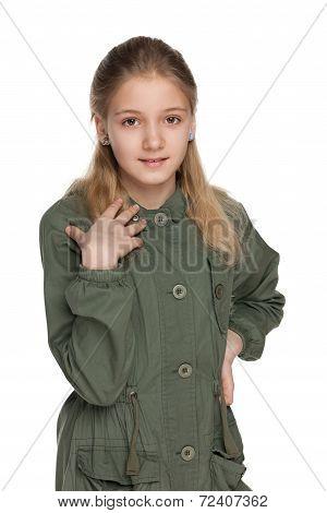 Adorable Preteen Girl