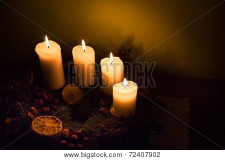 Shining Advent Candles
