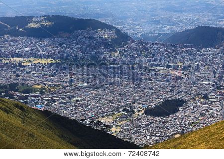 View Over Quito, Ecuador