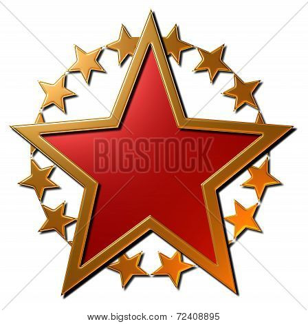 Russian Star (red & Gold)