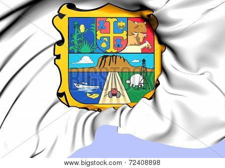Flag Of Tamaulipas, Mexico.