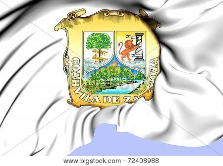 Flag Of Coahuila, Mexico.