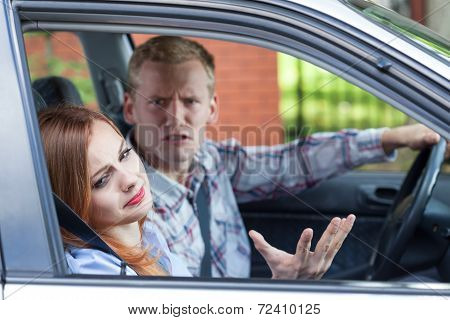 Marriage Arguing In A Car