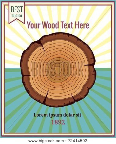 Wood poster template