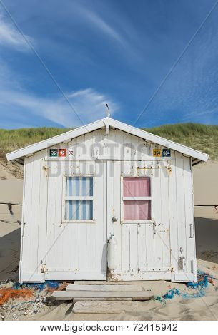 Cabin Or Hut On The Beach
