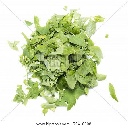 Portion Of Fresh Lovage On White