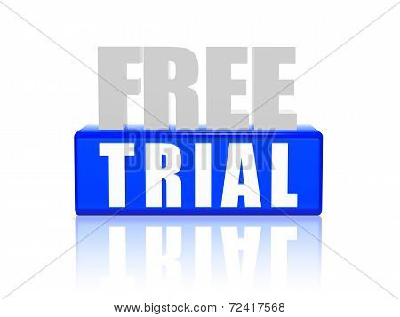 Free Trial In 3D Letters And Block