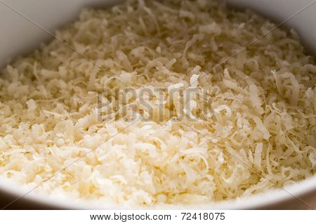 Grated Parmesan In A Bowl