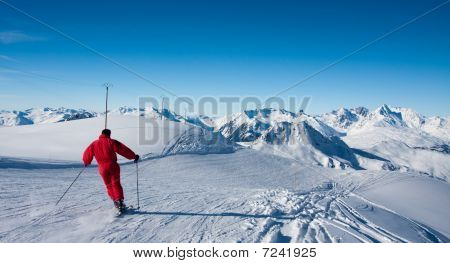 Skier On Ski Slope