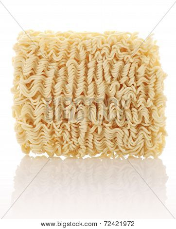 Wheat Noodles Closeup Isolated