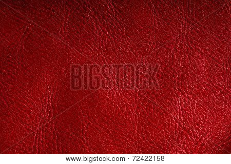Red Textured Leather Grunge Background