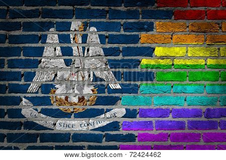 Dark Brick Wall - Lgbt Rights - Louisiana