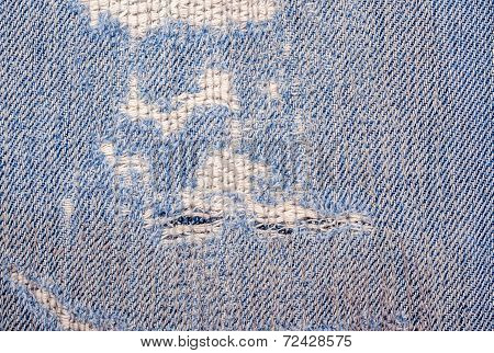 Frayed Blue Jeans Texture
