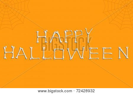 Happy Halloween Bones Text
