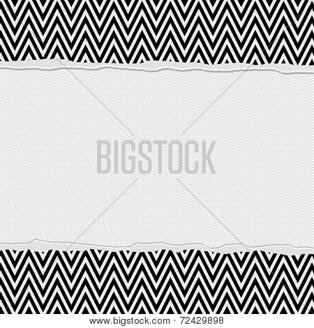 Black And White Torn Chevron Frame Background