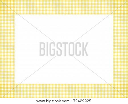Yellow Gingham Frame