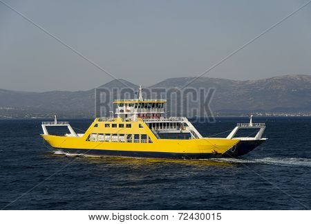 ferryboat for the transport of people and cars