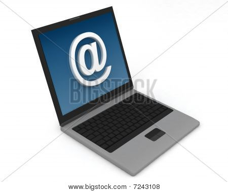 Laptop email sign
