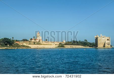 Abbey And Fortress On The Ile Saint Honorat