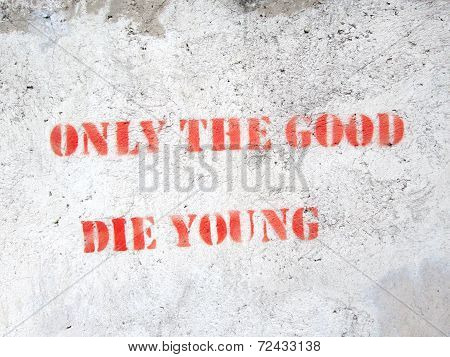 Quote On Concrete Wall