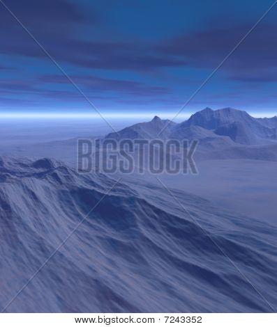 3D Fantasy Winter Landscape