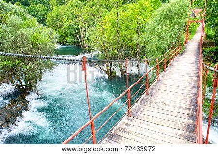 Mountains River Bridge