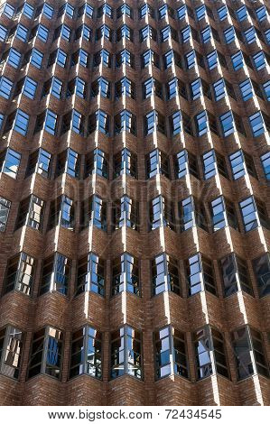 Rhythmic facade, windows, brick. Sydney