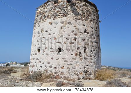 Old Greek Windmill On Kos Island