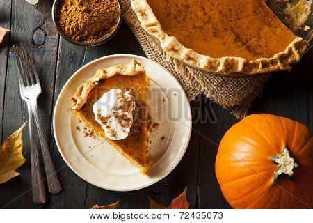 Homemade Pumpkin Pie For Thanksigiving poster