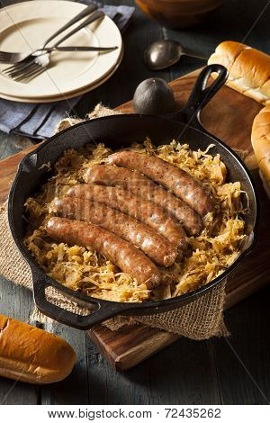 Roasted Beer Bratwurst With Saurkraut