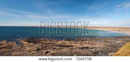 Scenic Panoramic Irish Beach Landscape West Ireland