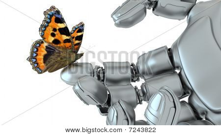 Robot And  Butterfly