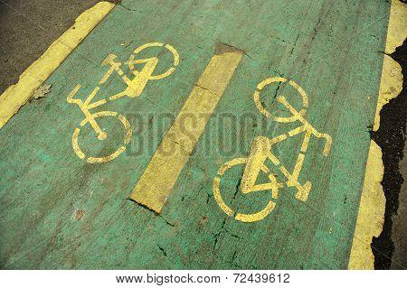 Damaged Bicycle Lane