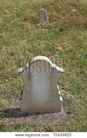 Headstone and Footstone