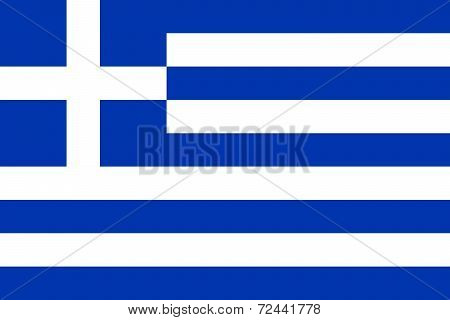 Current National Flag Of Greece