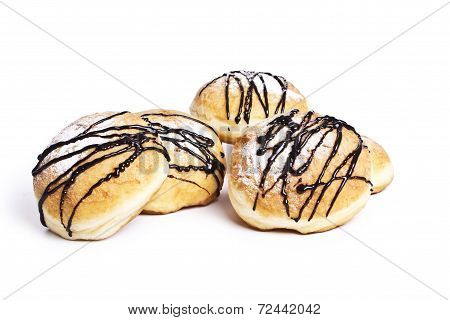 donuts isolated on white