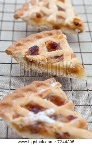 Three Slices Of Freshly Baked Apple Pie