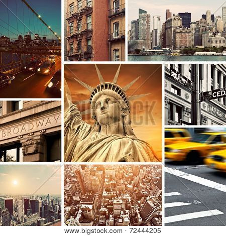 Vintage Manhattan-new York Collage