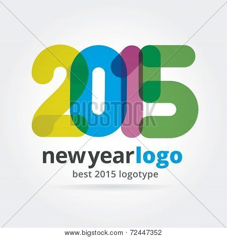 2015 vector logotype isolated on white background
